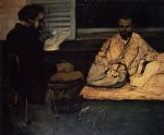 paul cezanne original paintings - paul alexis reading to zola by paul cezanne