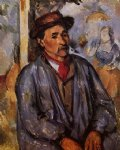 paul cezanne peasant in a blue smock paintings