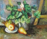 paul cezanne plate with fruit and earthenware paintings