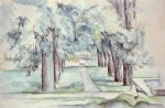 paul cezanne pool and lane of chestnut trees at jas de bouffan paintings