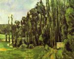 paul cezanne poplar trees painting
