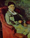 paul cezanne original paintings - portrait of madame cezanne by paul cezanne