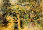 water original paintings - reflections in the water by paul cezanne