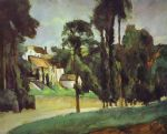 paul cezanne road at pontoise painting
