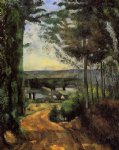 paul cezanne road trees and lake painting 27883