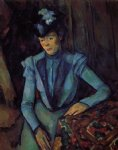 paul cezanne seated woman in blue painting