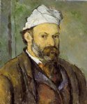 paul cezanne self portrait in a white cap painting-27909