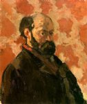 paul cezanne self portrait with a rose background painting-27910