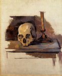 skull famous paintings - skull by paul cezanne