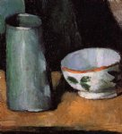 paul cezanne still life bowl and milk jug painting 27916