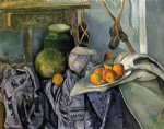 paul cezanne still life with a ginger jar and eggplants painting 27927