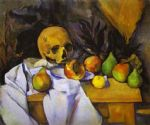 skull watercolor paintings - still life with a skull by paul cezanne