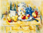 paul cezanne still life with apples a bottle and a milk pot painting 27929