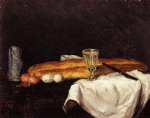 paul cezanne still life with bread and eggs painting 28113