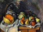 paul cezanne still life with fruit and a pot of ginger painting 27937