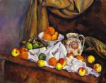 paul cezanne still life with fruit pitcher and fruit vase painting 82825
