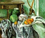paul cezanne still life with ginger jar and eggplants painting 27938