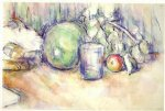 paul cezanne still life with green melon ii painting 27939