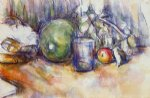 paul cezanne still life with green melon painting 28096
