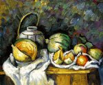 paul cezanne still life with melons and apples painting 27942