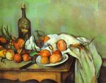 paul cezanne still life with onions painting 82838