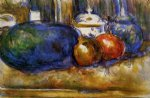 paul cezanne still life with watermelon and pemegranates prints