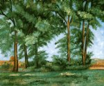 paul cezanne tall trees at the jas de bouffanii painting 27959