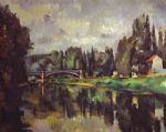 the banks of the marne by paul cezanne posters