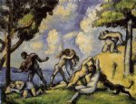 love art - the battle of love i by paul cezanne