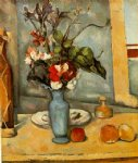 famous original paintings - the blue vase by paul cezanne