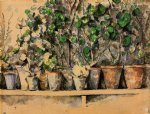 paul cezanne the flower pots print