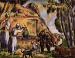 paul cezanne the fountain painting