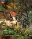 the house of pere lacroix in auvers by paul cezanne painting