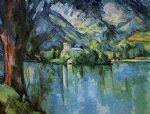 paul cezanne the lac d annecy painting
