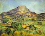 the mount sainte victoire by paul cezanne posters