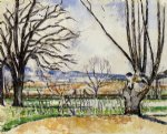 paul cezanne the trees of jas de bouffan in spring posters