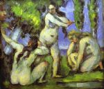 three bathers by paul cezanne posters