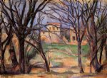 paul cezanne trees and houses painting 28059