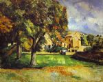 trees in park by paul cezanne posters