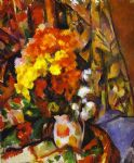 paul cezanne vase with flowers art