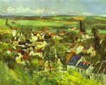 view of auvers by paul cezanne posters