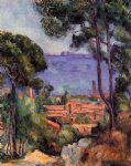 paul cezanne view through the trees painting 28100