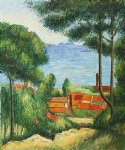 paul cezanne view through trees l estaque ii painting 28074