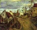 village road auvers by paul cezanne posters