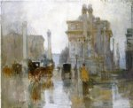 paul cornoyer art - after the rain the dewey arch madison square park by paul cornoyer
