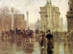 paul cornoyer art - dewey s arch by paul cornoyer