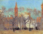 paul cornoyer art - madison square on a sunny day by paul cornoyer