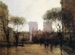paul cornoyer art - the plaza at 59th street by paul cornoyer