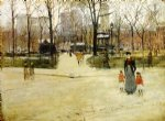 paul cornoyer art - washington square by paul cornoyer