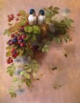 birds bees and berries by paul de longpre famous paintings